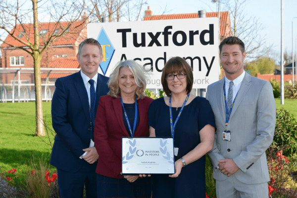 Tuxford Academy amongst 1% of organisations to be awarded accreditation