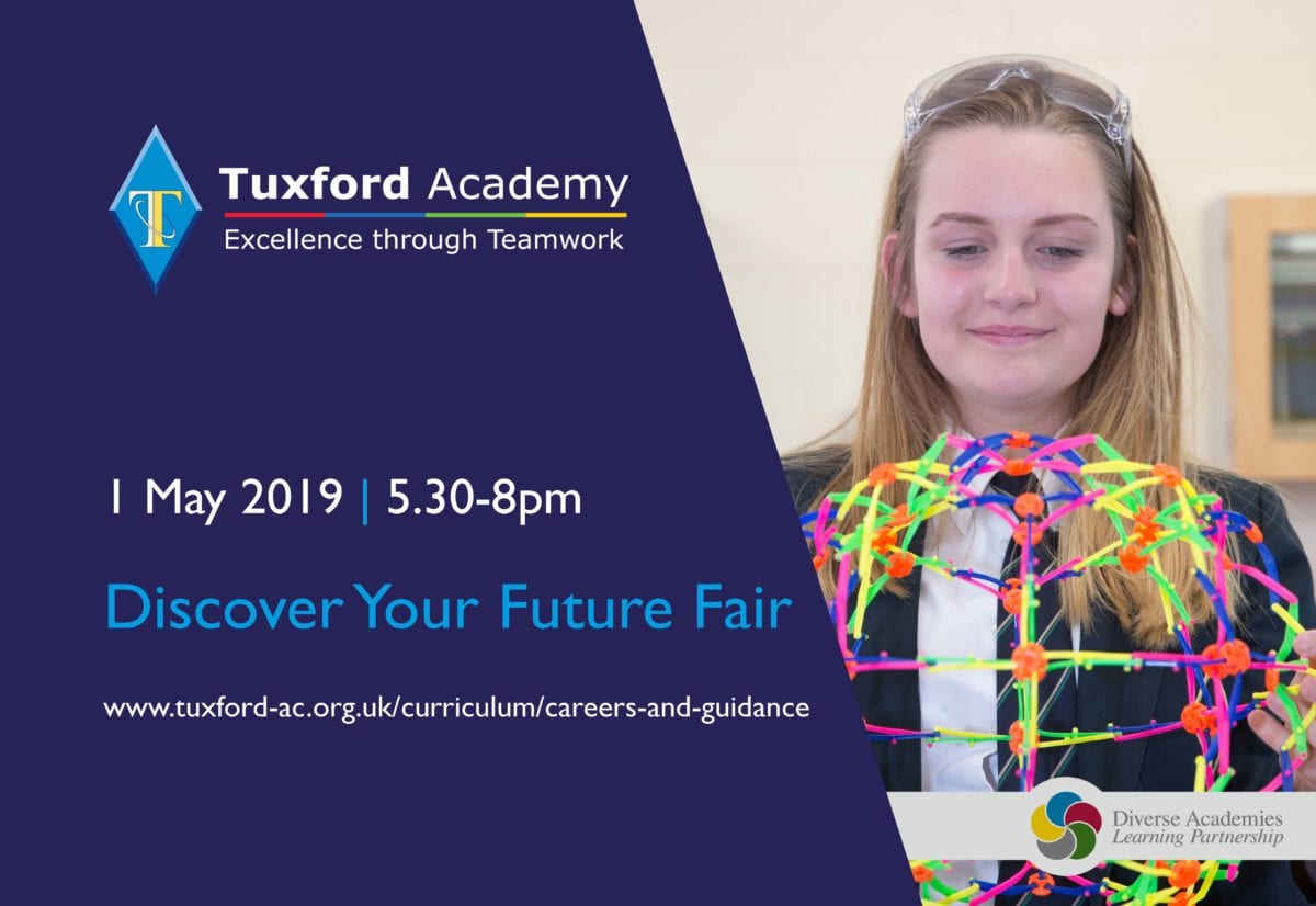 Discover Your Future Fair Wednesday 1 May 5.30pm
