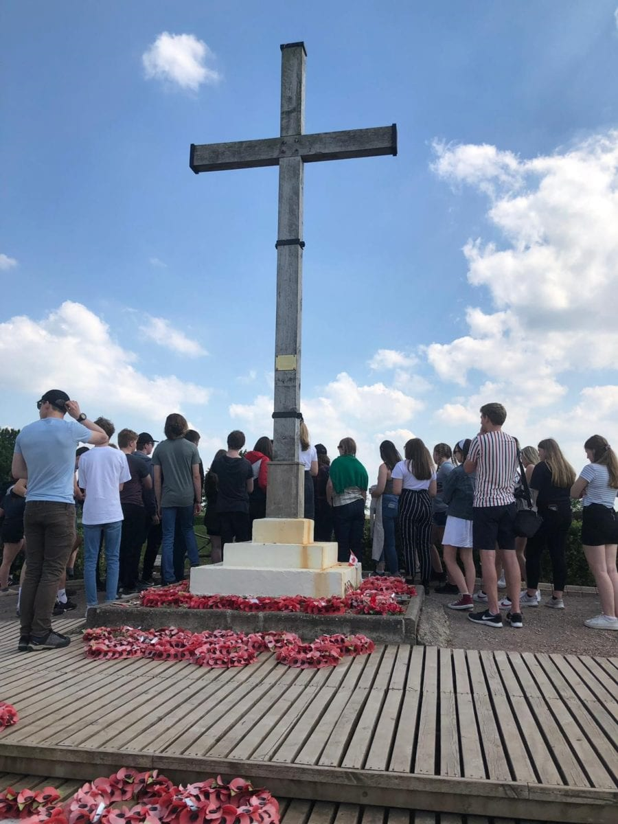 Year 10 history students visit the battlefields of France and Belgium